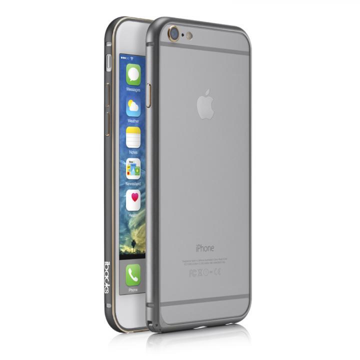 【iPhone6 Plusケース】軽量11gアルミバンパー ibacks Essence Bumper スペースグレイ iPhone 6 Plus_0