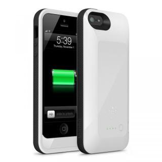 【iPhone SE ケース】iPhone SE/5s/5用充電ケース 2000mAh Grip Power Battery Case ホワイト/ブラック
