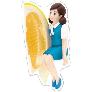 コップのフチ子 ダイカットポストカード レモンとフチ子