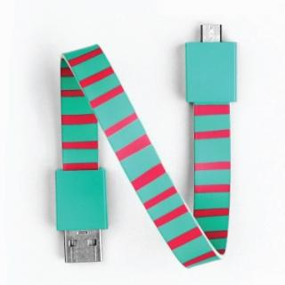 Mohzy Loop USB Cable-Candy Stripe