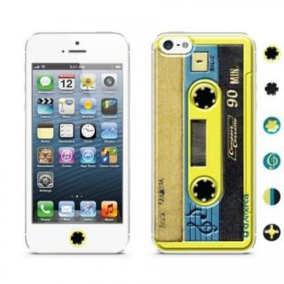 id America Cushi iPhone SE/5s/5-Cassette 【Yellow】
