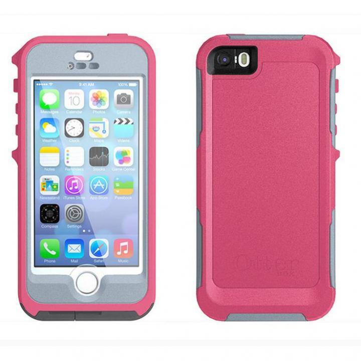 iPhone SE/5s/5 ケース 防水・防塵・耐衝撃対応 OtterBox Preserver  iPhone SE/5s/5 ブレイズピンク/パウダーグレー_0