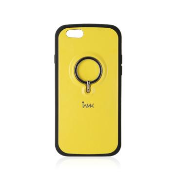 【iPhone6ケース】落下防止リング付きケース iAMK Finger Ring Bumper イエロー iPhone 6_0