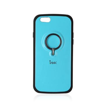 【iPhone6ケース】落下防止リング付きケース iAMK Finger Ring Bumper ブルー iPhone 6_0