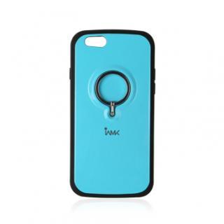 落下防止リング付きケース iAMK Finger Ring Bumper ブルー iPhone 6