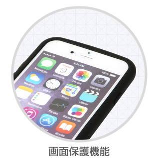 【iPhone6ケース】落下防止リング付きケース iAMK Finger Ring Bumper ブルー iPhone 6_4