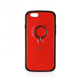 落下防止リング付きケース iAMK Finger Ring Bumper レッド iPhone 6