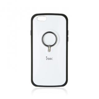 落下防止リング付きケース iAMK Finger Ring Bumper ホワイト iPhone 6