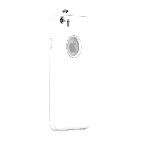 【iPhone6ケース】着信でスワロフスキーが輝く AEONAZ TWINKLE-i6 ホワイト iPhone 6_0