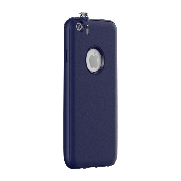 iPhone6 ケース 着信でスワロフスキーが輝く AEONAZ TWINKLE-i6 ネイビー iPhone 6_0