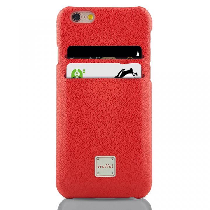 【iPhone6s/6ケース】truffol ICカード対応 カウハイドレザーケース ローズレッド iPhone 6s/6_0