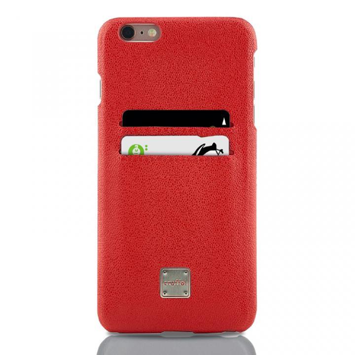 truffol ICカード対応 カウハイドレザーケース ローズレッド iPhone 6s Plus/6 Plus