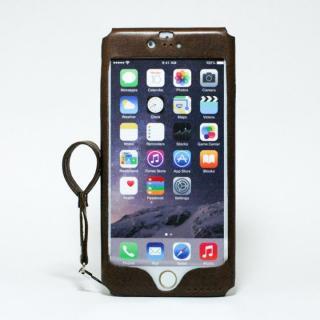 本革一枚で包み込むケース mobakawa イタリアンホース ダークブラウン iPhone 6 Plus