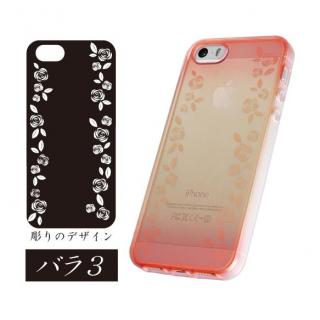 染ART iPhone SE/5s/5 バラ-3