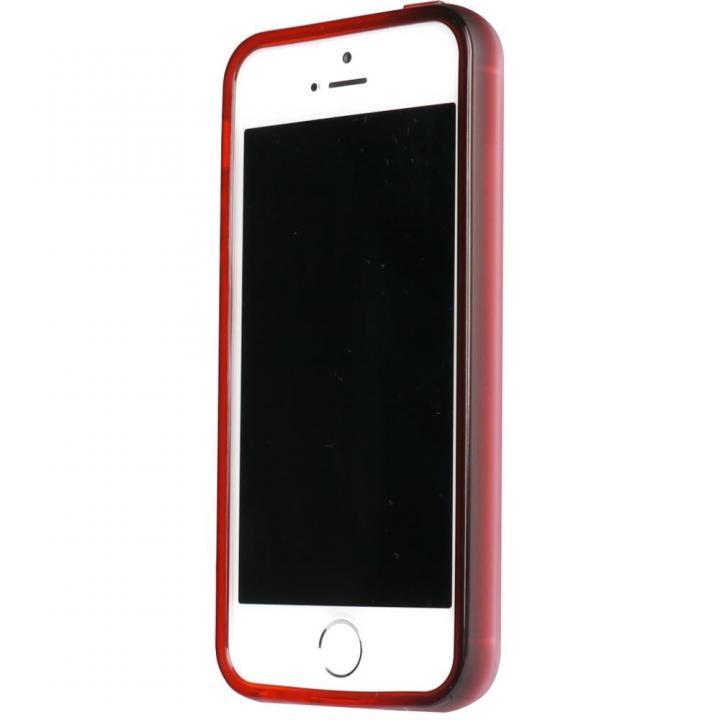 染 iPhone SE/5s/5 TPUバンパー紅