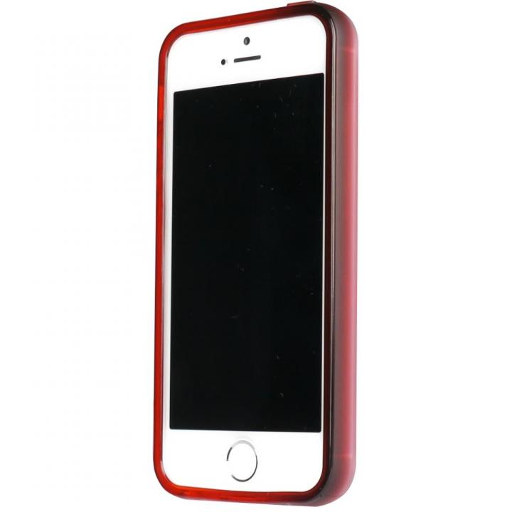 iPhone SE/5s/5 ケース 染 iPhone SE/5s/5 TPUバンパー紅_0