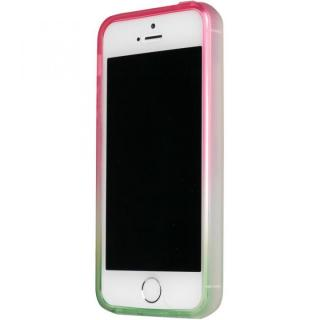 染 iPhone SE/5s/5 TPUバンパー桜