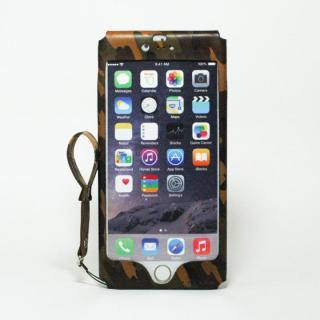 本革一枚で包み込むケース mobakawa ヌメ カモフラージュ iPhone 6 Plus