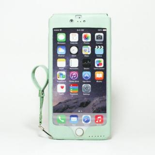 本革一枚で包み込むケース mobakawa アッシュミント iPhone 6 Plus