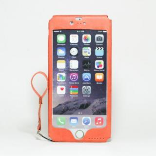 本革一枚で包み込むケース mobakawa アッシュオレンジ iPhone 6s Plus/6 Plus