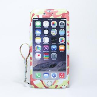 iPhone6 Plus ケース 本革一枚で包み込むケース mobakawa レッドカモフラージュ iPhone 6 Plus