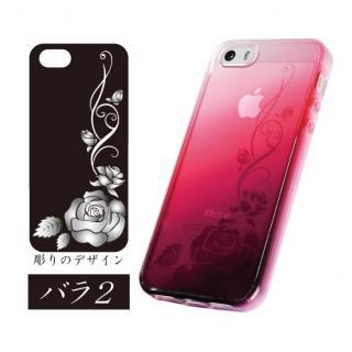 染ART iPhone SE/5s/5 バラ-2