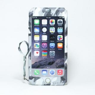 本革一枚で包み込むケース mobakawa ホワイトカモフラージュ iPhone 6 Plus