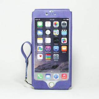 本革一枚で包み込むケース mobakawa アッシュパープル iPhone 6 Plus