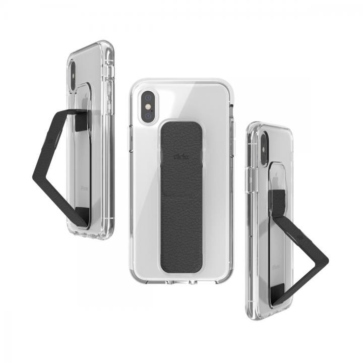 iPhone XS/X ケース CLCKR CLEAR GRIPCASE FOUNDATION CLEAR/BLACK iPhone XS/X_0