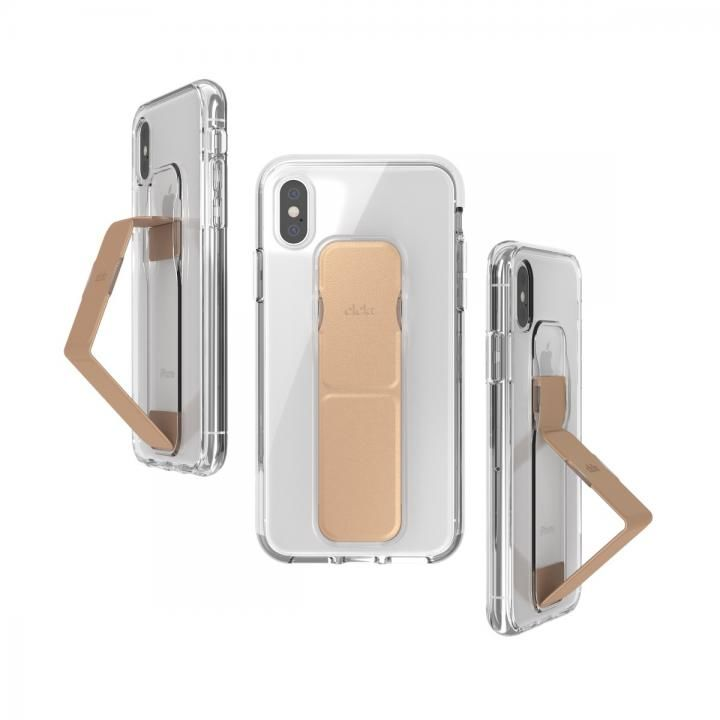 iPhone XS/X ケース CLCKR CLEAR GRIPCASE FOUNDATION Clear/Rose Gold iPhone XS/X_0