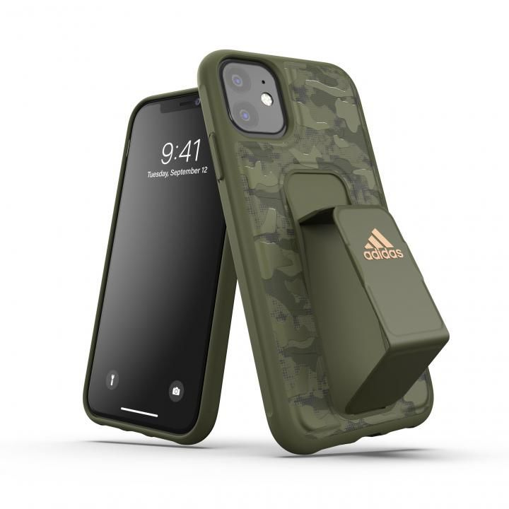 iPhone 11 ケース adidas Performance Grip case CAMO FW19 Tech olive iPhone 11_0