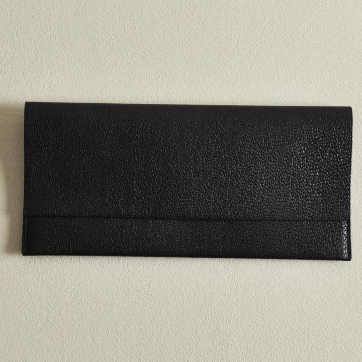 ゴートレザー長財布 ブラック