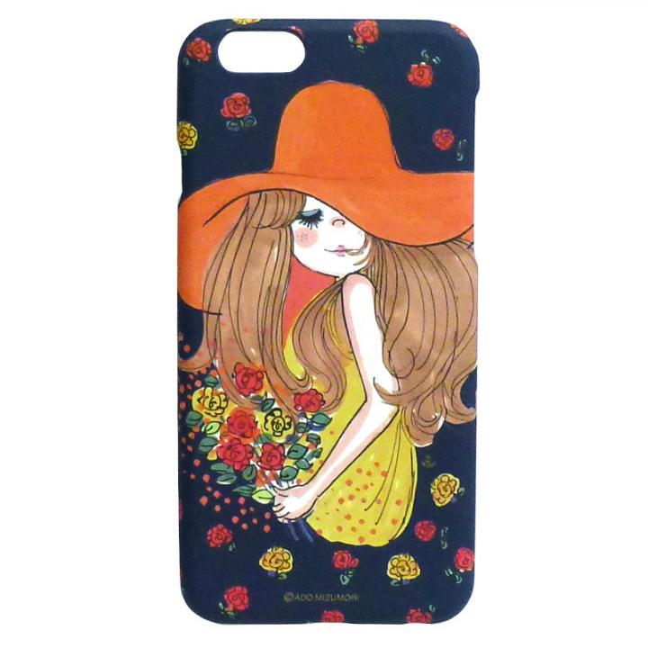 【iPhone6ケース】水森亜土 ポリカーボネイトケース ボウシ/バラ iPhone 6_0