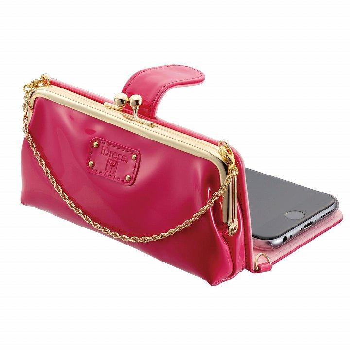【iPhone6s/6ケース】がま口タイプ お財布付き手帳型ケース icoin GAMACO ピンク iPhone 6s/6_0
