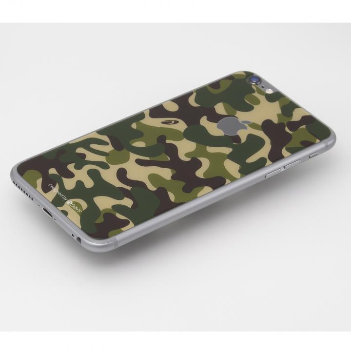 Deff 背面強化ガラス カモフラ 森 iPhone 6 Plus