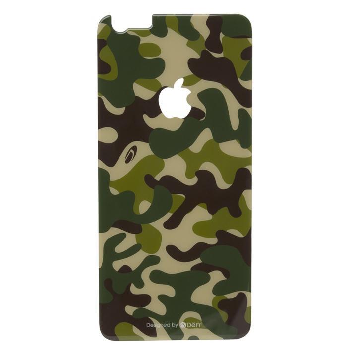Deff 背面強化ガラス カモフラ 森 iPhone 6