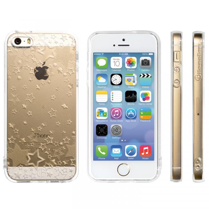 iPhone SE/5s/5 ケース Highend Berryオリジナル iPhone SE/5s/5ソフトケース トゥインクルスター ストラップホール付き_0