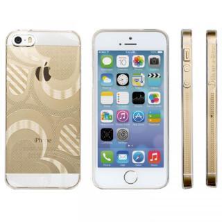 【在庫限り】Highend Berryオリジナル iPhone5s/5 フレアハート クリア ハードケース