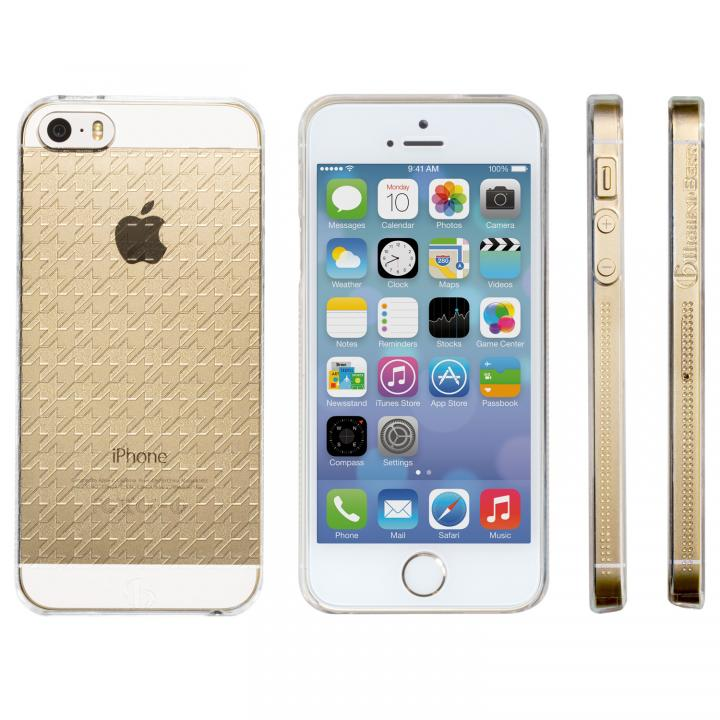 iPhone SE/5s/5 ケース Highend Berryオリジナル iPhone SE/5s/5 ハウンズトゥース クリア ハードケース_0