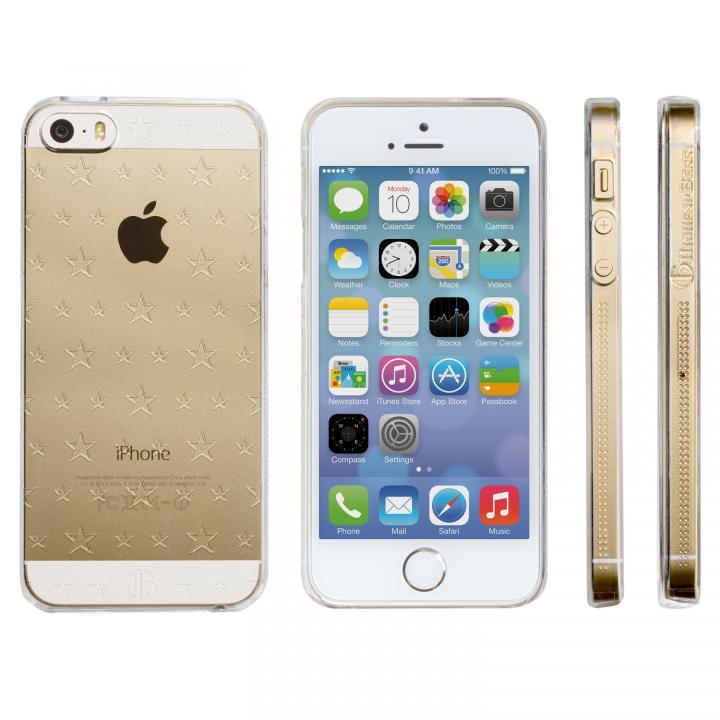 iPhone SE/5s/5 ケース Highend Berryオリジナル iPhone SE/5s/5 ダブルサイズスター クリア ハードケース_0