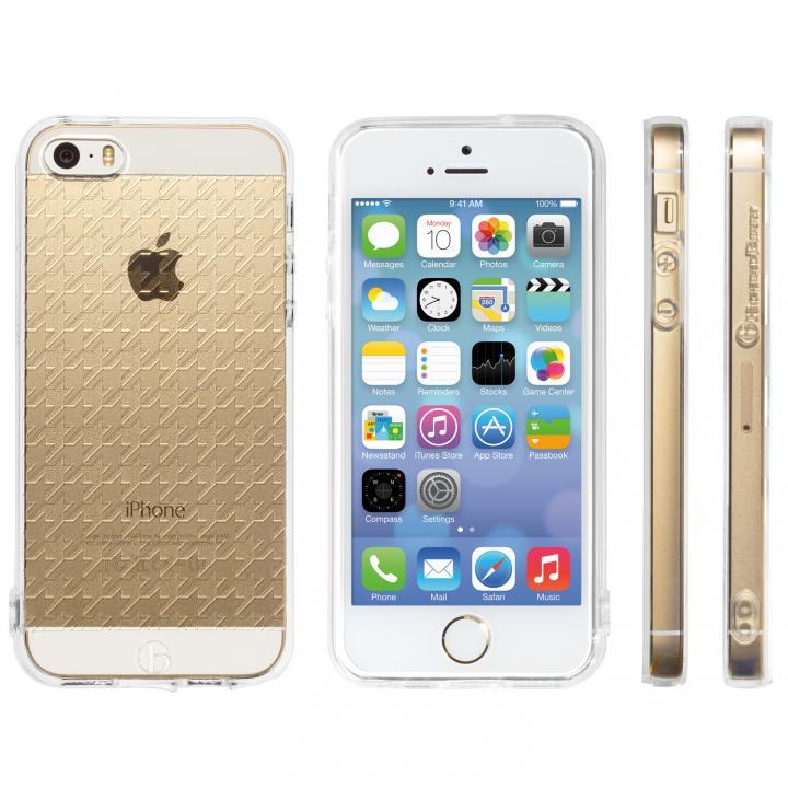 iPhone SE/5s/5 ケース Highend Berryオリジナル iPhone SE/5s/5ソフトケース ハウンズトゥース ストラップホール付き_0