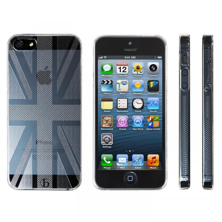 【iPhone SE/5s/5ケース】Highend Berryオリジナル iPhone SE/5s/5 ユニオンジャック クリア ハードケース_0