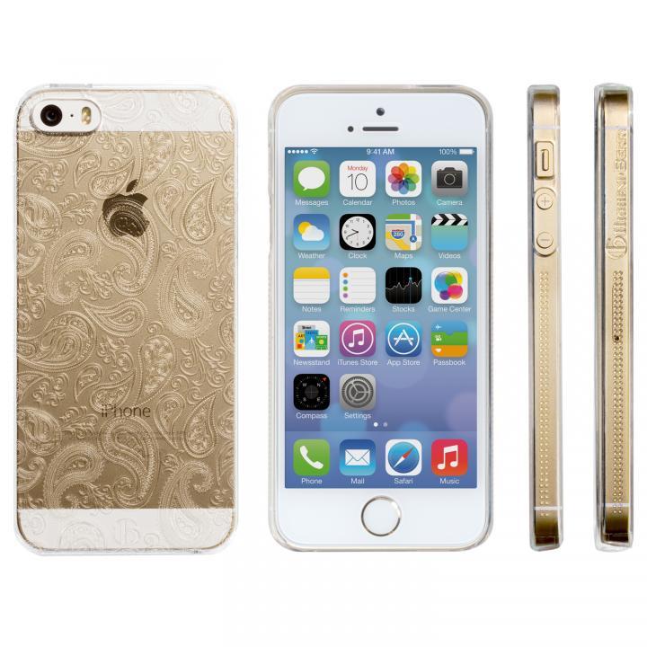 【iPhone SE/5s/5ケース】Highend Berryオリジナル iPhone SE/5s/5 ミニペイズリー クリア ハードケース_0