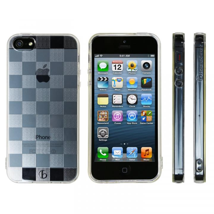 Highend Berryオリジナル iPhone SE/5s/5ソフトケース チェッカード ストラップホール付き
