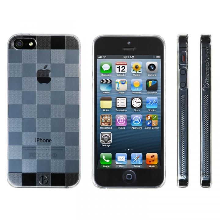 iPhone SE/5s/5 ケース Highend Berryオリジナル iPhone SE/5s/5 チェッカード クリア ハードケース_0