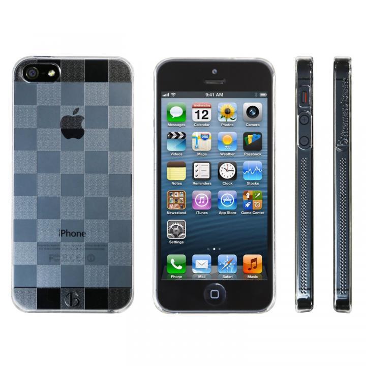 【iPhone SE/5s/5ケース】Highend Berryオリジナル iPhone SE/5s/5 チェッカード クリア ハードケース_0