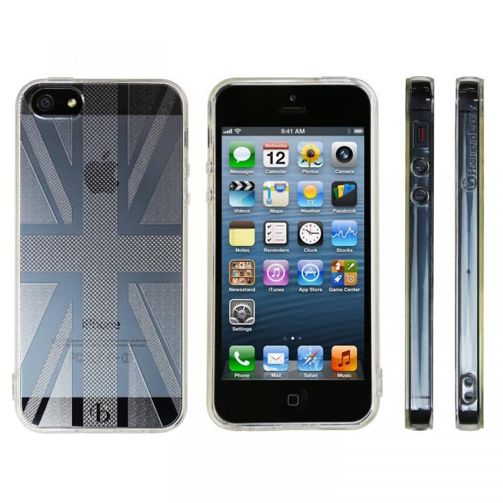 iPhone SE/5s/5 ケース Highend Berryオリジナル iPhone SE/5s/5ソフトケース ユニオンジャック ストラップホール付き_0