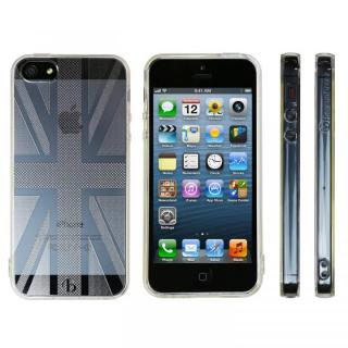 Highend Berryオリジナル iPhone SE/5s/5ソフトケース ユニオンジャック ストラップホール付き