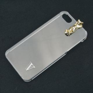 iPhone SE/5s/5 ケース with アニマル ネコ ゴールド