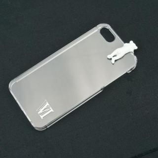 iPhone SE/5s/5 ケース with アニマル クマ ホワイト